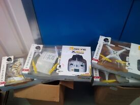 Joblot of four drones with missing camera and batteries