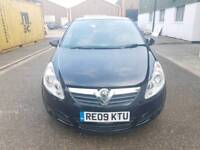 Vauxhall Corsa Active Ecoflex 1.3 CDTi Diesel 2009 ,Manual 3dr Black Low mileage with history.