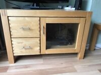 Solid wood Creations TV cabinet (matching coffee table also available)