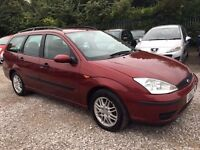 Ford Focus 1.6 i 16v LX Estate 5dr Petrol Automatic. CD PLAYER. VOSA HISTORY. WARRANTED MILEAGE