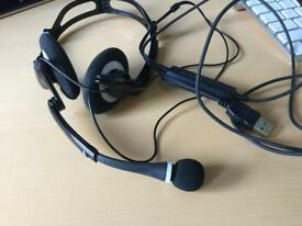 Planatronics Audio 400 Foldable Headset & Microphone For Skype etc,
