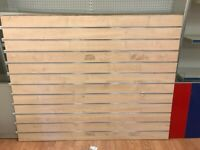 1 PIECE SLATWALL FOR SALE WIDTH 150CM X 120CM FOR SHOP FITTING DISPLAY