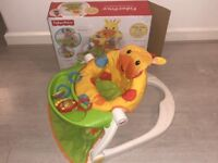 Fisher Price Giraffe Sit-me-up floor seat chair with tray for baby child to sit