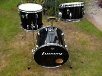 VINTAGE LUDWIG CUSTOM DRUM KIT 16, 13, 10 (£340)