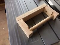 Hand made wooden toilet roll kitchen roll holders