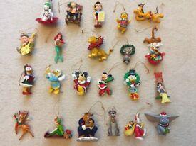 Grolier Disney characters Xmas tree decorations. Individually boxed!