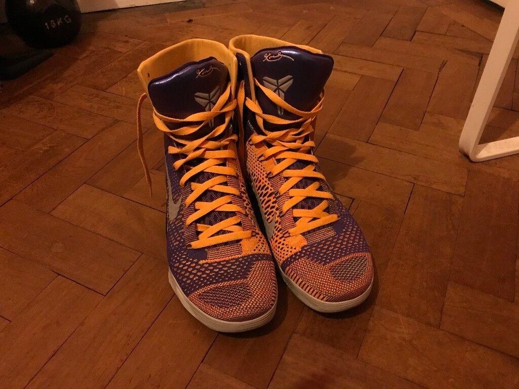 half off 972ec d6cf9 Nike Kobe 9 IX Elite Showtime Lakers UK 11 EU 46