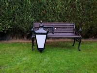 Large Victorian style cast alloy outdoor lamp