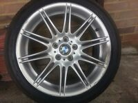 GENUINE BMW MV4 FRONT WHEEL 8J X 19 WITH BRIDGESTONE TYRE FOR 3 SERIES