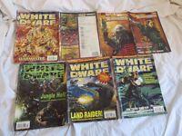 5 White Dwarf Games Workshop Books issue 242 243 245 246 249 + 2 free comic books