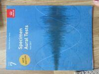 ABRSM Specimen Aural Tests & Scales Grade 7 Book