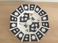 Royal Derby crown china unfinished Imari octagonal plate