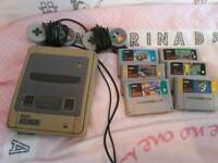 Snes with 6 games