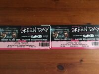 2 Greenday Tickets for Tuesday in Glasgow