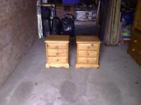 A Pair OfHandcrafted Bedside Tables