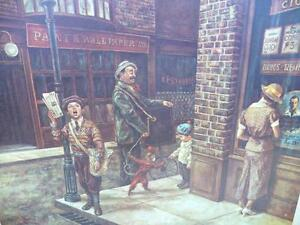 "Vintage, Victorian Street Scene by Lee Dubin ""The News Hawker"" Stratford Kitchener Area image 2"