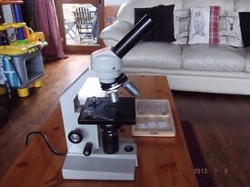motic microscope and slides £85.00 ono