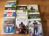 XBOX GAMES AND CONTROLLERS