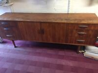 MORRIS OF GLASGOW art deco sideboard vintage retro furniture drawers cupboard