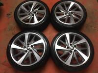 "18"" GENUINE SEAT LEON FR MK3 ALLOY WHEELS TYRES ALLOYS CADDY GOLF 5x112"