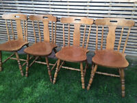 4 beautiful country style chairs, very strong and in very good condition