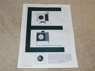 Stephens Tru Sonic Ad  1956  Charles Eames  Info  1 Pg