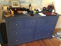 IKEA Hemnes 8 Draw Chest in Blue