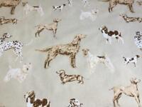 Laura Ashley Printed Fabric With PVC Coating (Dark Linen Hunterhill).