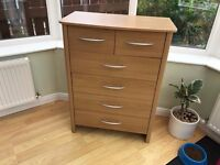 Tall Chest of Drawers 1m height