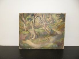 Landscape featuring Trees - oil on canvas - c.1930s