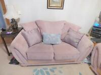 2 x 2 seater sofas 162cm x95cm, colour- mink from smoke & pet free home