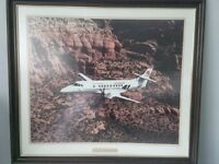 Picture of Jetstream aircraft on flight trials in The Rockies