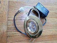 Spotlights, recessed solid brass.