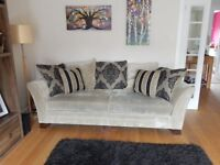 A pair of Ashley Manor Stamford Matching Sofas, a 3 and 4 Seater