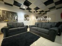 New grey 3+2 seater sofa set