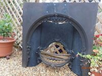 Cast iron fireplace back