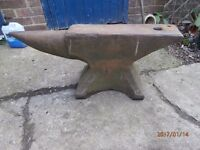circa 1900 large heavy vintage blacksmiths anvil weight 3cwt collect from swanscombe kent