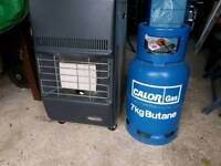 Superser calor gas heater with two bottles
