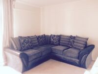 Excellent condition charcoal grey sofa