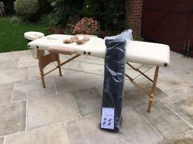 Lightweight portable massage bench with carrier bag
