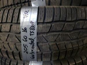 1 winter tire continental ts830p 205/60r16  SPECIAL