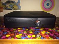 Xbox 360 black and controller