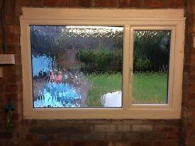White UPVC double glazed window