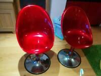 Red Breakfast bar chair/stool x2
