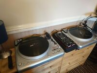 Serato Digital Vinyl DJ Setup - Vestax PDX2000 x 2, Akai AMX, Novation Dicer, Accessories
