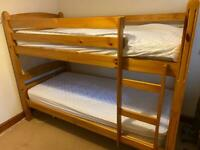 Solid wooden bunk beds