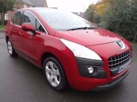 2010 PEUGEOT 3008 1.6 HDi FAP SPORT SUV 5dr DIESEL STUNNING CAR THROUGHOUT LOOK