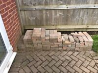 Block paving left over from garden paved area. Around 150 blocks.