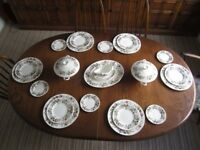Wedgwood Hathaway Rose bone china Tea and Dinner service for 6. Good condition, most pieces unused