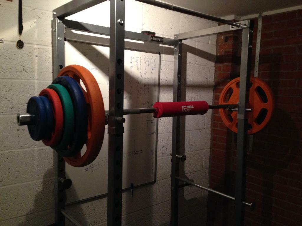 Home gym squat cage olympic bar & weights free weights & bars